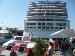 Back view of the Carnival Pride at Puerto Vallerta.JPG