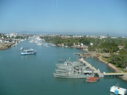 View from the Norwegian Star at the Puerto Vallerta cruise harbor.JPG