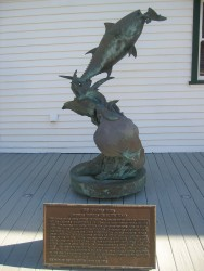The Leaping Tuna sculpture on Catalina Island