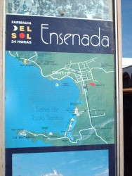 Map of Ensenada Cruise Terminal area