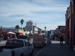 A typical street scene in Ensenada