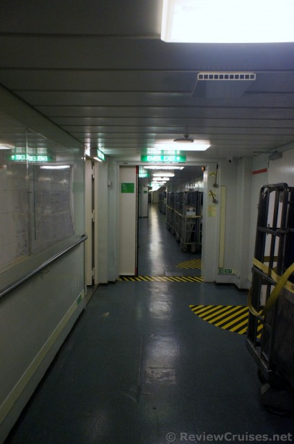 Cruise Ship I 95 Corridor Crew Only Area Norwegian Spirit
