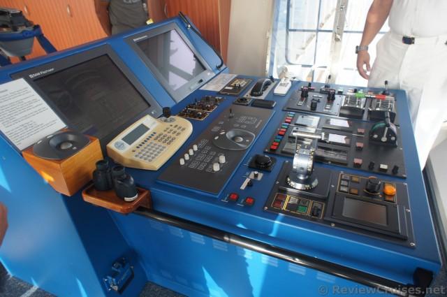 Cruise Ship Navigational Controls And Monitors On The Bridge Of - Cruise ship controls