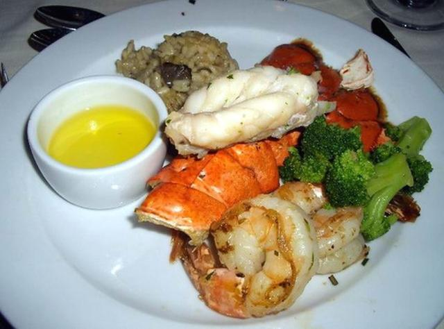 Carnival Cruise Food - Broiled Lobster Tail and Tiger Shrimps.jpg Hi-Res 720p HD