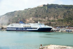 Grimaldi Lines Cruise Roma Ferry Ship docked at Port of Barcelona.jpg