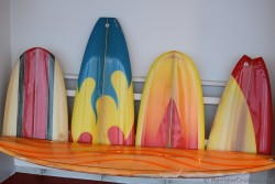 Surfboards Bench of Wipeout Cafe Oasis of the Seas.jpg