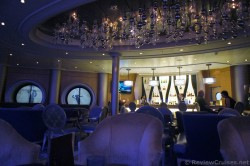 Champagne Lounge with crystal balls ceiling decor Oasis of the Seas at night.jpg