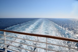 Smooth Wake left by Oasis of the Seas Day 12 of 2014 Transatlantic Cruise to Europe.jpg