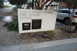 Jack & Shirley Forrest Pine Ave Portal sign next to Lauderdale Beachside Hotel second building.jpg