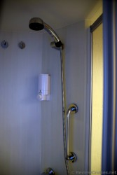 Shower Head and Shampoo Dispenser in Oasis of the Seas bathroom.jpg