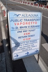 Alilaguna Vaporetto to St. Mark's Square Ticket Pricing from Venice Cruise Port. Mark's Square Ticket Pricing from Cruise Port.j