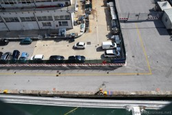 Port of Venice Dock workers attach rope on Cruise Ship as it docks.jpg