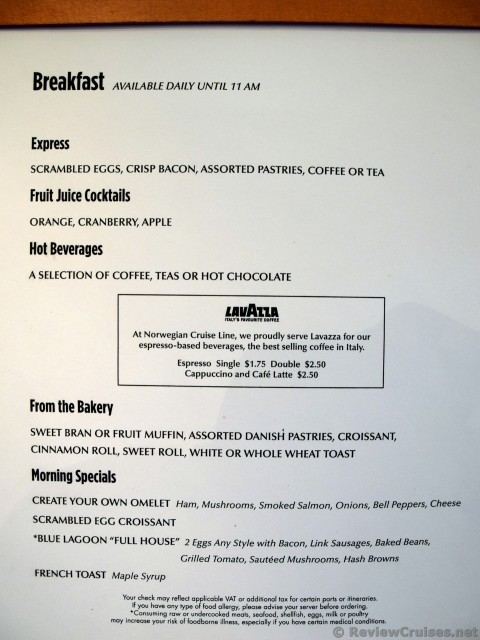Norwegian Jade Breakfast Menu For Blue Lagoon 2015 Jpg Hi Res 1440p Qhd