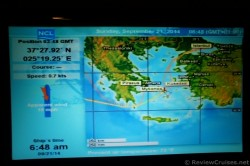 Norwegian Spirit Ship Coordinates as it is about to dock at Mykonos Greece.jpg