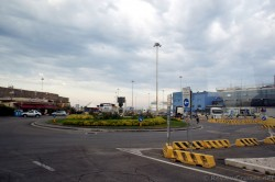 Traffic Circle Outside Port of Civitavecchia.jpg