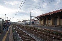 Civitavecchia Train Station - platform waiting for train to Rome.jpg