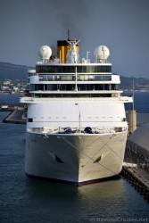 Front of the Costa NeoClassica Cruise Ship anchored in Civitavecchia.jpg