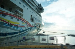 Nose of the Norwegian Spirit docked @ Livorno Italy.jpg