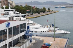 Bow of Star Pride Cruise Ship Yacht docked at Pireaus Port.jpg