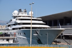 Topaz Mega Yacht Docked in Piraeus Greece.jpg