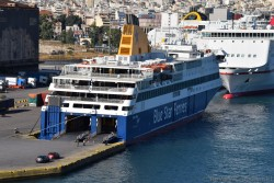 Blue Star Ferries Ship docked @ Port of Piraeus.jpg
