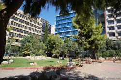 Apartment Buildings Seen from a Park at Piraeus Greece.jpg