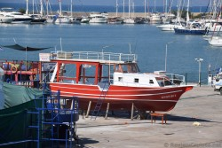 Red Boat at Drydock in Kusadasi.jpg