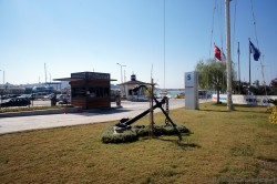 Anchor in front of Setur Marinas Kusadasi Parking Lot Area.jpg