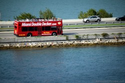 Miami Double Decker Bus on MacAurthur Causeway Miami.jpg
