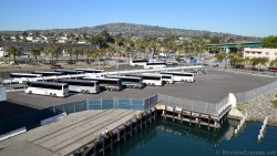 Coach Buses in Parking Lot of World Cruise Center Port of Los Angeles.jpg