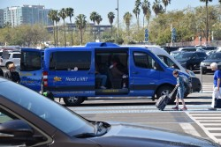 Supershuttle Van outside Los Angeles Cruise Port.jpg
