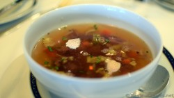 Venison Sausage & Vegetable Soup (beef broth, sherry peppers).jpg