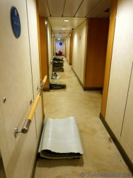 Allure of the Seas Carpets Being Replace in the Hallway