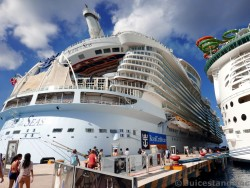 Stern of Allure of the Seas While Docked in Cozumel Mexico