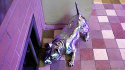Chrome Pig Sculpture at Royal Promenade Allure of the Seas