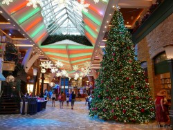 Giant Christmas Tree at Royal Promenade Allure of the Seas