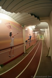 Jogging Track with Tennis and Soccer Wall Art on Allure of the Seas