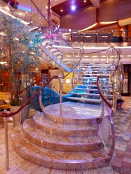 Marble Stairs Leading Up to Deck 6 from Royal Promenade on Allure of the Seas