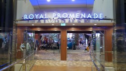 Royal Promenade Entrance on Allure of the Seas