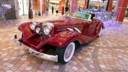 Vintage Red Car at Allure of the Seas Royal Promenade Deck 5