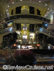 Norwegian Dawn atrium at night.jpg