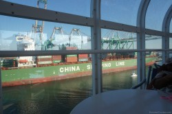 China Shipping Line ship at Port of Los Angeles as viewed from Disney Wonder.jpg