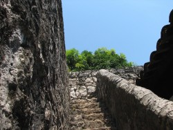 Guatemala Excursion at San Felipe Fortress Stone Stairs.jpg