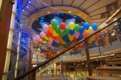 Colorful balloons above atrium of Caribbean Princess.jpg