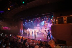 Dancers perform on stage Princess Theatre aboard Caribbean Princess.jpg