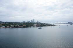 Looking out at expensive homes ocean front to Port Everglades from Caribbean Princess.jpg