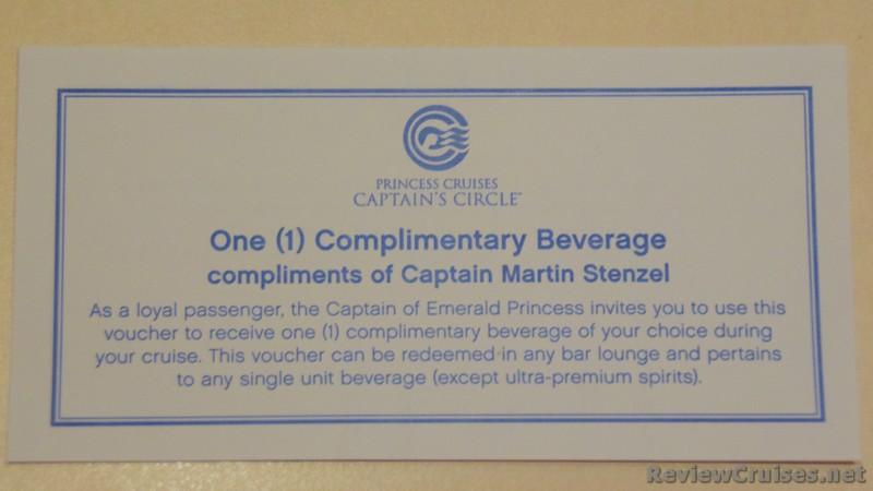 Princess Captains Circle Free Drink Voucher